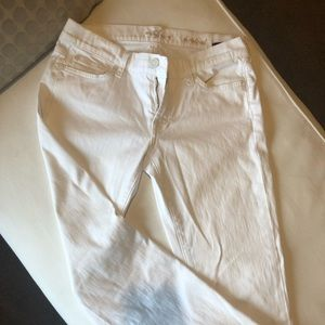 7 for All Mankind - White Bootcut Jeans
